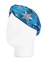yıldız kafa bandı saçı toptan satış-Tasarımcı G Ipek Çapraz Elastik Bantlar Kadın Kızlar Lüks Saç bantları Arı Yıldız Parlak Eşarp Saç Aksesuarları Hediyeler Sıcak Satış İyi quanlity