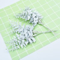 Wholesale garland brooches resale online - 6pcs Fake tree christmas decorations for home wedding artificial plants diy garland bride brooch scrapbooking cheap silk flowers