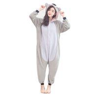 2f6195e27 Bonito Koala Onesie Flanela One-Piece Pijamas Koalas Kigurumi Animal  Canguru Sleepwear Mulheres Adultas Para O Dia Das Bruxas Partido Cosplay