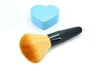 mischer verwenden großhandel-Soft Kurzer Griff Blender mit dichtem Gesicht Brauner Blender-Pinsel Pro Mehrzweck-Brauner Blender-Mixer Pinsel Make-up Power Brush-Werkzeug TTA118
