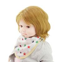baberos pañuelo blanco al por mayor-Baberos para bebés Estampado de estrellas Toalla de bebé Bufanda de alimentación Baberos de bata Paños para eructar Para bandana baby girl boys