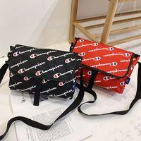Wholesale school messenger backpacks resale online - With Tag Champions Letter Shoulder Messenger Bag Uniset Belt Waist Fanny Packs School Laptop Tablet Bags Waterproof Beach Sports Totes C491