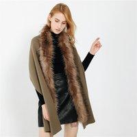 мужской меховой шарф оптовых-Winter Warm Fashion Solid Color Long Thickening Fur Collar Cashmere Scarf Shawl cashmere scarf men blanket 2018 Hot sale