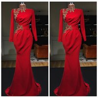 Wholesale dresses evening party gowns long for sale - Group buy Elegant Beaded Crystal Slim Mermaid Prom Dresses Slim Sweep Train Special Occasion Party Gowns Evening Dress Formal Long Special
