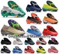Wholesale ronaldo outdoor soccer shoes resale online - 2020 Mens Mercurial Superfly VII Elite SE FG Boys Womens CR7 Ronaldo Neymar MDS Soccer Shoes Football Boots Cleats Size