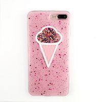 iphone mobile tube venda por atacado-Casos de telefone celular simples sorvete rosa maçã Xs escudo móvel iPhone6S tubo doce protetora shell pacote completo casca mole