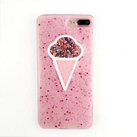 мобильная трубка iphone оптовых-Случаи сотового телефона простое розовое мороженое Яблоко XS мобильная оболочка iPhone6S сладкая трубка защитная оболочка полный пакет мягкая оболочка
