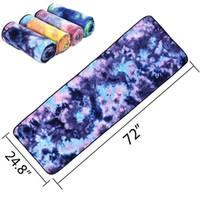 toalheiro venda por atacado-183 * 63 cm macio antiderrapante yoga cobertores yoga pilates mat toalha de secagem rápida cobertor impresso viagem interior sport fitness exercise