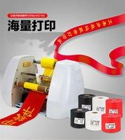 sıcak baskı makinesi toptan satış-satılık Hediye sarma kurdele baskı makinesi dijital sıcak folyo şerit baskı makinesi