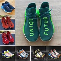 ingrosso scarpe da corsa unici-Adidas NMD human race shoes 2019 Solar Pack HU Inspiration TR Human Race Scarpe da corsa Pharrell Williams Heart Mind NERD White Bold Core Scarpe da ginnastica sportive nere 36-45
