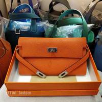 Wholesale cell phone organizer wallets resale online - Classic Women Wallets Clutch Bags Handbags Purses High Quality Ladies Fashion TOGO Calfskin Coin Purse Passport Card Holder Wallet