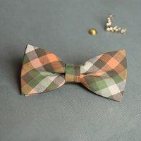 pajarita de navidad a cuadros al por mayor-Venta al por mayor banquete de boda de algodón Bowtie Noeud Papillon hombres mujeres Bow Tie Plaid Color corbata moda corbata Navidad