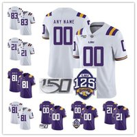 Wholesale new arrival jersey resale online - NCAA LSU Tigers CFB TH Jersey Grant Delpit Kristian Fulton Joe Burrow th New Arrival stitched adult Jerseys