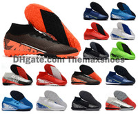 2020 Mercurial Superfly 7 VII 360 Elite TF IC MDS 001 Turf coperta CR7 Ronaldo Neymar NJR Mens scarpe da calcio Scarpe da calcio tacchetti Size 39 45