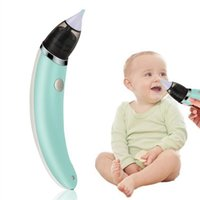 baby saugt großhandel-Baby-Nasensauger Elektro Sicher Hygienisch Nase Reinigungsmittel mit 2 Größen Nase Tipps und Oral Rotz Sucker MMA2606-B2