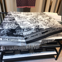 Wholesale animal print long scarves resale online - Luxury Women Scarf D Letters Animals Printed Shawl Long Double Sided Scarves Autumn And Winter Thicken Cashmere Scarf