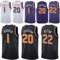 Wholesale men basketball uniforms resale online - Devin Booker Basketball Jersey Josh Jackson Jerseys DeAndre Ayton Booker Jackson Ayton High quality adult uniform