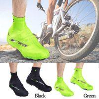 cubiertas de zapatos de lycra al por mayor-1 par de zapatillas de ciclismo cubierta zapatillas de deporte zapatillas de invierno Lycra carretera bicicleta bicicleta MTB zapatillas de ciclismo cubierta
