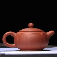 yixing teekanne gesetzt großhandel-Yixing Zisha Keramik Teekanne Weihnachtsgeschenk Chinesischen Stil Keramik Lila Ton Material Verwenden Sichere Zisha Tee-Set