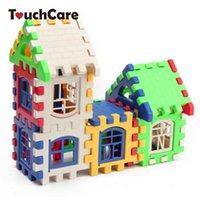 ev blokları inşa et toptan satış-uilding blokları Bebek Plastik Dişli Çocuk Plastik Gears Çocuk Evi Yapı Taşları Eğitim İnşaat Oyuncak Seti Beyin Oyunu Çocuklar ayarlar ...