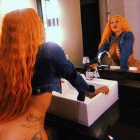 Wholesale kinky cosplay online - Natural Hairline Full Wigs Orange Cosplay Wigs Long Kinky Curly Hair Middle Part Heat Resistant Glueless Synthetic Lace Front Wigs for Women