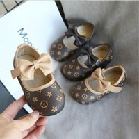 Wholesale children dance shoe for sale - Group buy Children Casual Shoes Kid Baby Girls Single Soft Dance Solid slip on shoes Bowknot leather Princess Shoes