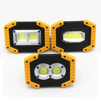 Wholesale usb bulb for power bank resale online - Portable LED Flashlight COB Work Light Floodlight Searchlight Waterproof USB Rechargeable Power Bank For outdoor lighting
