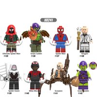 Wholesale goblin toys resale online - Building Block Super Heroes Ultimate Spider Man Green Goblin Kingpin Spider Gwen Figures Children Toys X0241