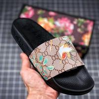 Wholesale summer booties for women online - Designer Slippers Shoes Summer Flip Flop Sports Shoes Witn Box For Flower Tiger Bee Women Men