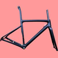 karbon bisiklet grupları toptan satış-2019 yeni karbon fiber yol bisikleti çerçeve bisiklet bisiklet çerçeve yarış bisikleti çerçeve V-fren disk fren Mekanik groupset ve Di2 groupset