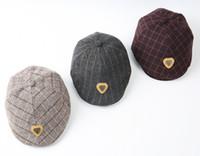 erkek çocuk şapkaları toptan satış-Erkek bebek yüzük taşıyıcısı Pageboy Scally Cap - düz sarmaşık Newsboy tüvit golf kap şapka