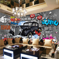 Wholesale 3d wall poster for living room resale online - beibehang papel de parede D hotot mural wallpaper for walls d Auto Club Car Posters magazine Wallpaper Murals sports cars