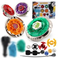 Wholesale metal fury beyblades for sale - 4 IN suit Beyblade burst Metal Fusion D Battle Metal Top Fury Masters launcher beyblades gyro grip children christmas toy