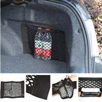 Wholesale car trunk storage net for sale - Group buy Black Car Rear Trunk Seat Back Storage Magic Tape Net String Nylon Resilient Bag
