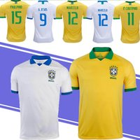 36aab0640 Wholesale thailand soccer jerseys free shipping resale online - 19 New  Thailand brazil Retro jersey soccer