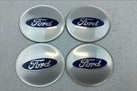 radmittenkappen embleme großhandel-56,5mm 65mm Auto Emblem Radmitte Radkappe Abzeichen Aufkleber Aufkleber auto styling für Ford Kuga Flucht Ecosport Fiesta Mondeo