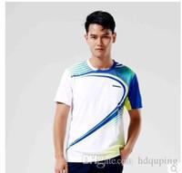 rote badminton groihandel-Wholesale-Kawasaki Professionelle atmungsaktive Badminton T-Shirt Quick Dry Outdoor-Sportbekleidung Jersey für Männer und Frauen ST-16135 16235