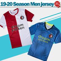 fußball trikots feyenoord großhandel-2020 Feyenoord Rotterdam Fußball Trikots # 32 V.PERSIE Hause rot weiß 19/20 # 9 JORGENSEN entfernt blau Fußball Trikots Fußball Uniformen On Sale