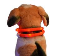 colar usb venda por atacado-2016 mais novo Cut USB Carga Dog Training Collar LEVOU Carregador Ao Ar Livre Luminosa Pet Coleiras de cachorro luz Ajustável 6 cores LED piscando coleira de cachorro