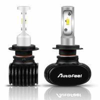 drl h7 toptan satış-2x H7 1800W 375000LM LED Far Ampüller Sis Işık 6000K Beyaz Sis Lambası DRL