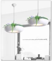 işıklı bitki kapları toptan satış-Babil Saksı Bitki Kolye Işık Lamba Gölge Modern Işık Büyüyen Otlar veya Succulents için Saksılar