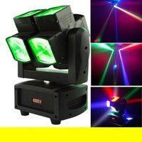 Wholesale High Brightnes x12W RGBW in1 Dual Moving Head LED Beam Scanner Light Stage KTV Disco Lighting