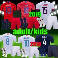 kits de fútbol de estados unidos al por mayor-Estados Unidos muchachos adultos 2019 EE. UU. HOMBRE Niños Fútbol Jersey 2018 PULISIC DEMPSEY BRADLEY ALTIDORE MORGAN Kits de fútbol América de la Copa de América