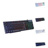 Wholesale rainbow laptop resale online - GX50 Keyboard Color Rainbow LED Backlit USB Wired PC Desktop Laptop Computer Professional Gaming Keyboard