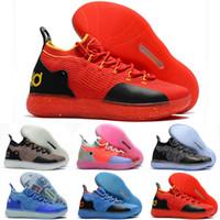 ingrosso scarpe pasquali kd-Scarpe da basket da donna KD 11 a buon mercato in vendita Oreo Nero Pasqua Blu Giallo Rosso Ragazzi Ragazze Giovani Bambini Bambini Kevin Durant XI Scarpe da tennis in vendita