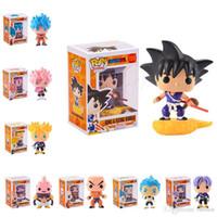 Wholesale kid goku action figure resale online - FUNKO POP Dragon Ball Z Son Goku Vegeta Piccolo Cell PVC Action Figure Collectible Model Retail action figures surprise doll for kids