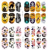 Wholesale nail art stickers halloween resale online - 2019 Halloween Mixed Design New Nail Art Sticker Set Nails Art Decoration Nail Sticker Party Makeup LR3
