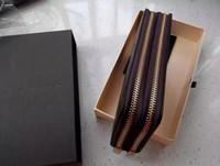 marke damen geldbörse groihandel-Heiß! Großhandel berühmte marke mode einzigen reißverschluss billig luxus designer frauen pu-leder brieftasche dame damen lange geldbörse AU16