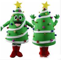 costumes de lapin de pâques personnalisés achat en gros de-Costume de mascotte de haute qualité pour arbre de Noël avec une grande étoile jaune et des balles colorées, carnaval des fêtes