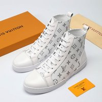 ingrosso più vendita di stivali di dimensioni-Moda Uomo Scarpe Stivaletti Casual Scarpe Calzature Patchwork Plus Size Zapatos de hombre Vendita calda Match-Up Sneaker Boot con scatola originale